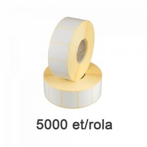 ZINTA Role etichete semilucioase 40x30mm, 5000 et./rola - 40X30X5000-SGP