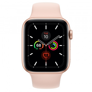 Apple Watch Series 5 44mm GPS Gold Aluminum Case with Pink Sand Sport Band