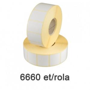 ZINTA Role etichete semilucioase 50x20mm, 6660 et./rola - 50X20X6660-SGP