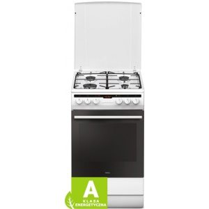 Amica Aragaz 57GE2.33HZPTA(W) ,  Cuptor electronic , Clasa de energie A ++ , 50 cm latime  , 4 arzatoare , Capacitate 65 l  , Alb