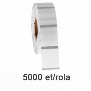 ZINTA Role etichete de plastic transparente 32x25mm, 5000 et./rola - 32X25X5000-PET-BM