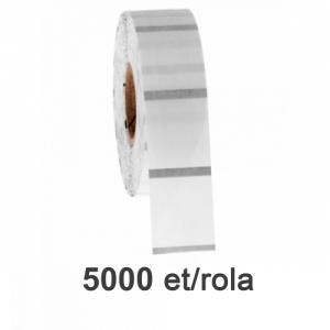 ZINTA Role etichete de plastic transparente 36x23mm, 5000 et./rola - 36X23X5000-PET-BM