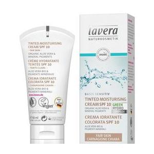 Lavera Crema Hidratanta Nuantata cu SPF10 pentru Ten Deschis Basis Sensitiv, 50ml