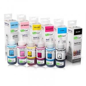Procart Set 6 culori cerneala refill foto DYE pentru Epson seria L
