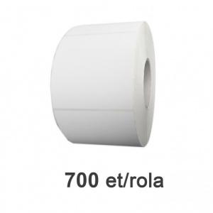 ZINTA Role etichete de plastic albe 100x100mm, 700 et./rola - 100X100X700-PE
