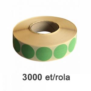 ZINTA Role etichete semilucioase rotunde verzi 49mm, 2885 et./rola - 49X49X2885-SGP-R-GREP