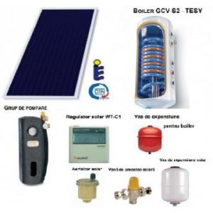 Sunsystem Panou solar plan si boiler 120 litri 1-2 persoane