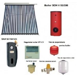 Sontec Panou solar cu 40 tuburi vidate si boiler 300 litri - 5-6 persoane
