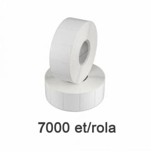ZINTA Role etichete de plastic albe 33x22mm, 7000 et./rola - 33X22X7000-PE