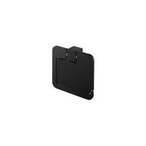 Bisk Suport hartie igienica cu aparatoare Futura negru 02961