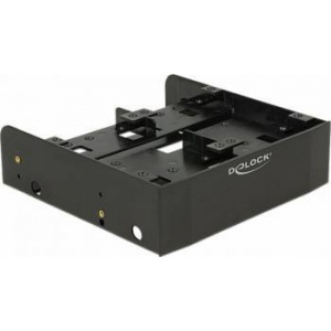 Delock 5.25″ Installation Frame for 1 x 3.5″ + 2 x 2.5″ or 6 x 2.5″ hard drives 18217