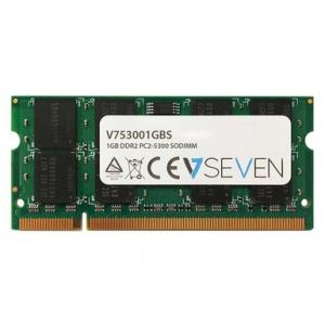 V7 1GB DDR2 PC2-5300 667Mhz 1.8V SO DIMM Notebook Memory Module - V753001GBS