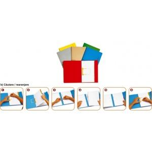 Jalema Dosar carton color cu alonja arhivare de mare capacitate - galben