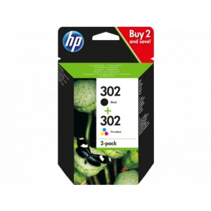 HP 302 2-pack Black/Tri-colour Original Ink Cartridges X4D37AE