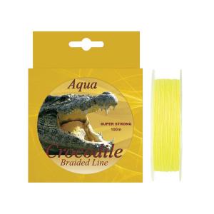 Baracuda Fir textil Aqua Crocodile 100 m, galben fluo