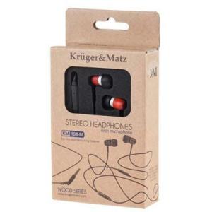 Kruger&Matz In-Ear KM0108-MRW Palisandru Red