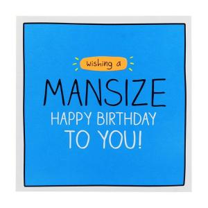 Pigment Productions Felicitare - Mansize Birthday