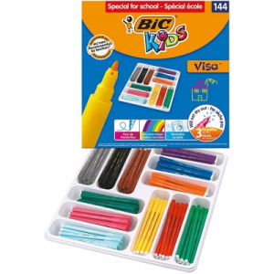 BIC Carioci lavabile Kids Visa 144 buc/set 8878381