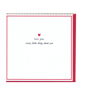Pigment Productions Felicitare - Love You. Every Little Thing