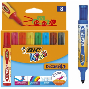 BIC Carioci lavabile Kids Decoralo 8 buc/set 946442