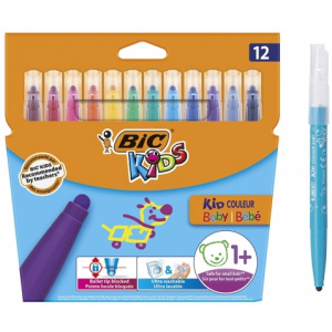 BIC Carioci lavabile Kid Couleur Baby 12 buc/set 9020801