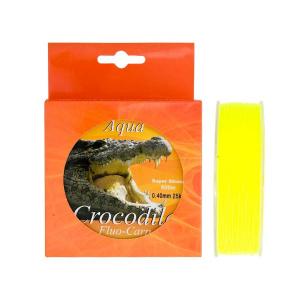 Baracuda Nylon/fir monofilament Aqua Crocodile Fluo-Carp 600 m, galben fluo