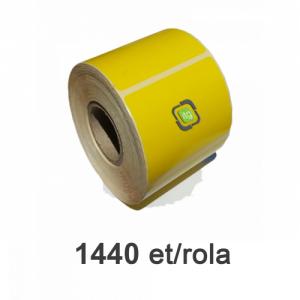 ZINTA Role etichete semilucioase galbene 100x100mm, 1440 et./rola - 100X100X1440-SGP-YEL