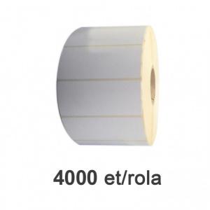 ZINTA Role etichete semilucioase 100x40mm, 4000 et./rola - 100X40X4000-SGP