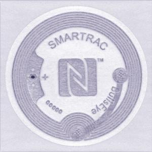 Konica Minolta Etichete autocolante de autentificare NFC -10 buc, NXP NTAG216, BullEye