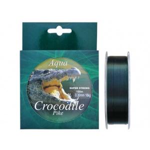 Baracuda Nylon/Fir monofilament Aqua Crocodile Pike 150 m, verde inchis