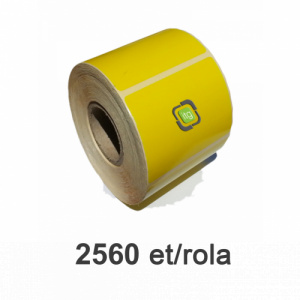 ZINTA Role etichete semilucioase galbene 100x56mm, 2560 et./rola - 100X56X2560-SGP-YEL