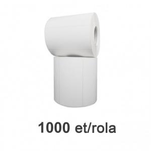 ZINTA Role etichete de plastic albe 100x50mm, 1000 et./rola - 100X50X1000-PE