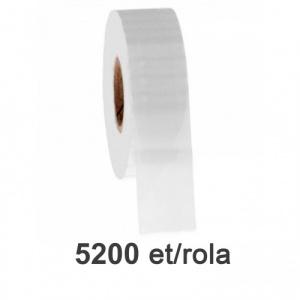 ZINTA Role etichete de plastic transparente 50x26mm, 5200 et./rola - 50X26X5200-PET