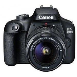 Canon EOS 4000D + EF-S 18-55mm DC III (Negru) 3011C018AA