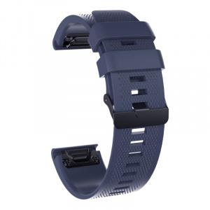 Very Dream Curea silicon compatibila Garmin Fenix 5, 22mm, Granite Blue