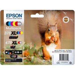 Epson 378XL+478XL   Multipack     Claria Photo HD C13T379D4010