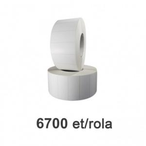ZINTA Role etichete de plastic albe 70x30mm, 6700 et./rola - 70X30X6700-PE