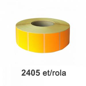 ZINTA Role etichete semilucioase portocalii 80x60mm, 2405 et./rola - 80X60X2405-SGP-ORA