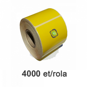 ZINTA Role etichete semilucioase galbene 100x40mm, 4000 et./rola - 100X40X4000-SGP-YEL