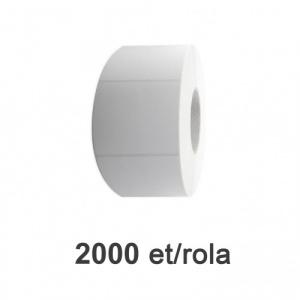 ZINTA Role etichete de plastic albe 104x75mm, 2000 et./rola - 104X75X2000-PE