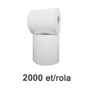 ZINTA Role etichete de plastic albe 110x64mm, 2000 et./rola - 110X64X2000-PE