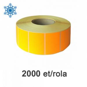 ZINTA Role etichete semilucioase 100x70mm, pentru congelate, portocalii, 2000 et./rola - 100X70X2000-SGP-DF-ORA