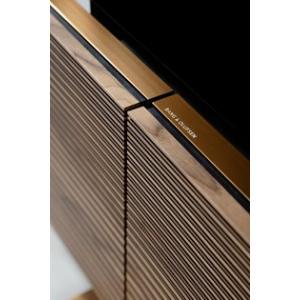 Bang and Olufsen Beovision Harmony 65 floorstand + Sound Center Brass Tone/Smoked Oak