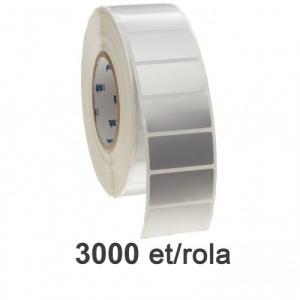 ZINTA Role etichete de plastic argintii 38x25 mm, 3000 et./rola - 38X25X3000-PE-SILVER