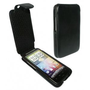 Piel Frama HUSA TELEFON HTC DESIRE HD iMAGNUM NEAGRA