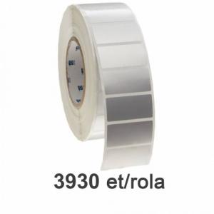 ZINTA Role etichete de plastic argintii 70x34mm, 3930 et./rola - 70X34X3930-PE-SILVER