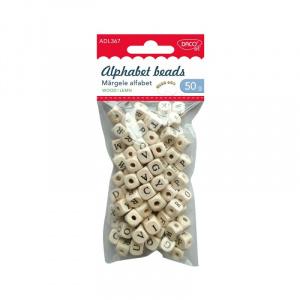 Daco Accesorii craft - ADL367 margele alfabet de lemn, 3 set/pachet