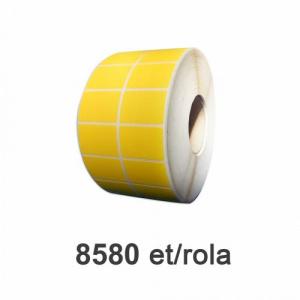 ZINTA Role etichete PE autodistructibile galbene 50x32mm, 8580 et./rola - 50X32X8580-PESEC-YEL-2R