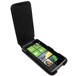 Piel Frama HUSA TELEFON HTC HD7 iMAGNUM NEAGRA