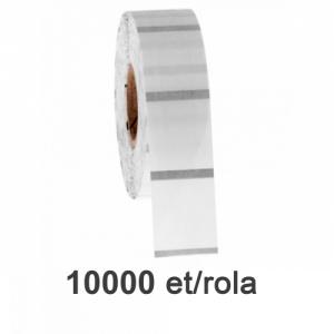 ZINTA Role etichete de plastic transparente 15x12mm, 2et./rand, 20.000 et./rola - 15X12X20000-PET-BM
